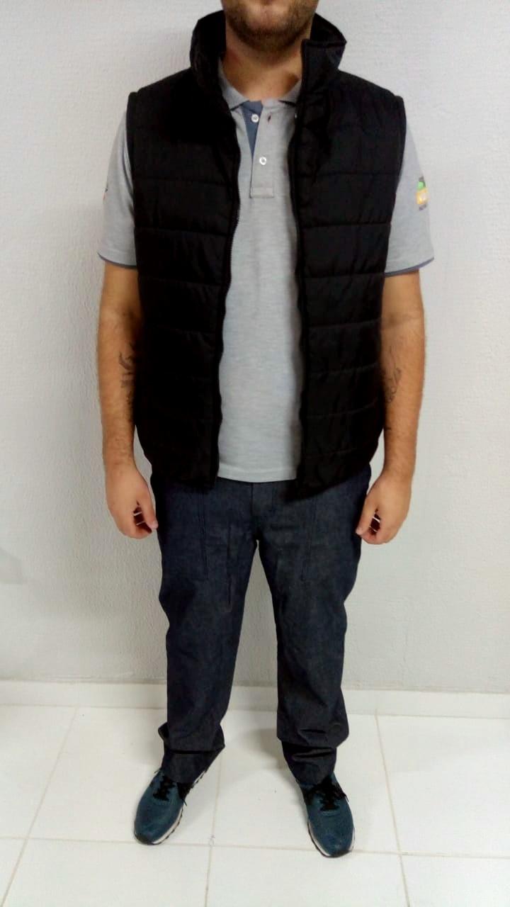 Colete masculino nylon